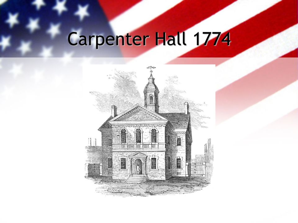 Carpenter Hall 1774