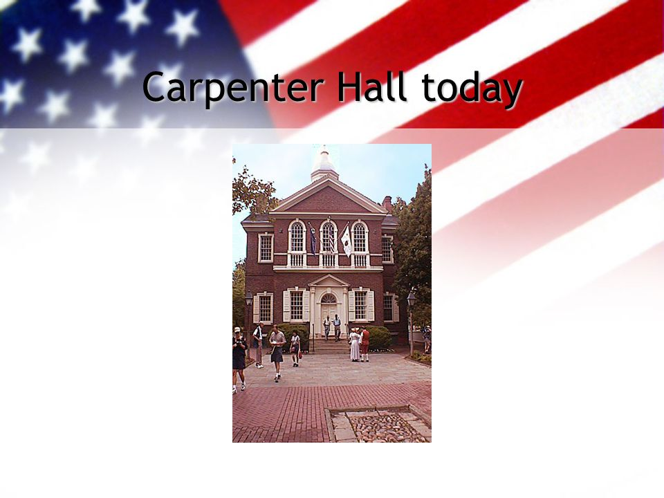 Carpenter Hall today