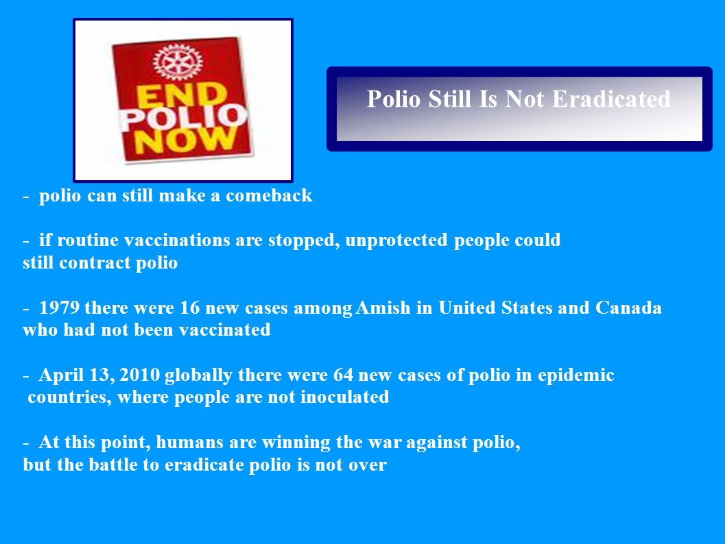 Polio Still Is Not Eradicated