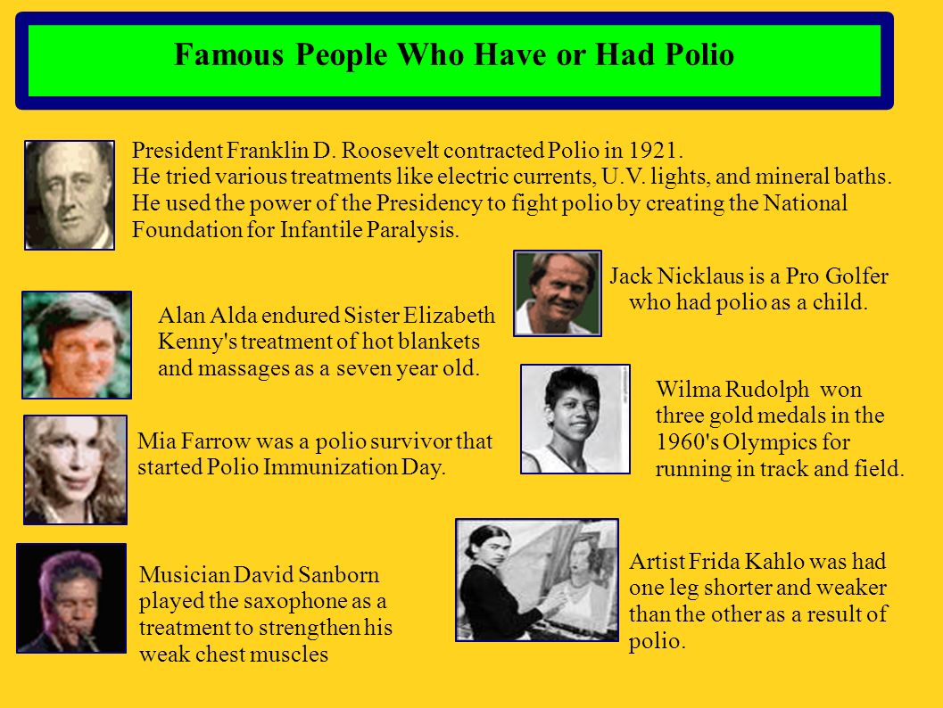 Famous People Who Have or Had Polio