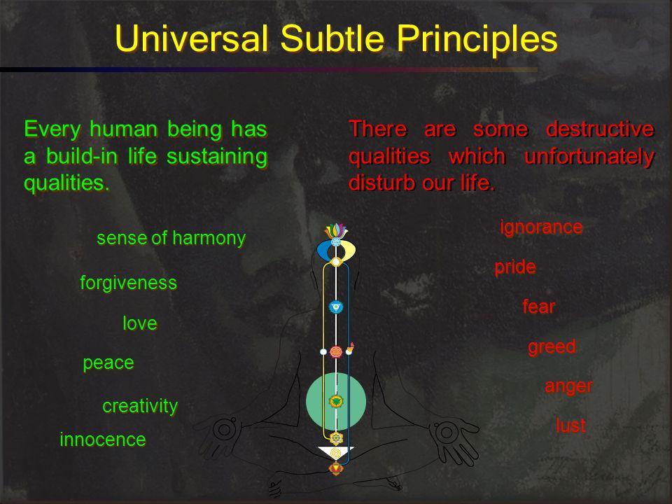 Universal Subtle Principles