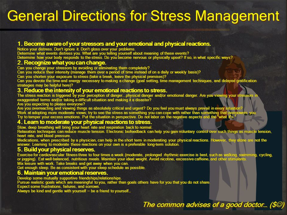 General Directions for Stress Management