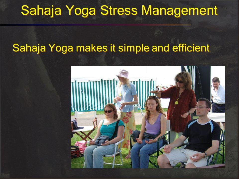 Sahaja Yoga Stress Management