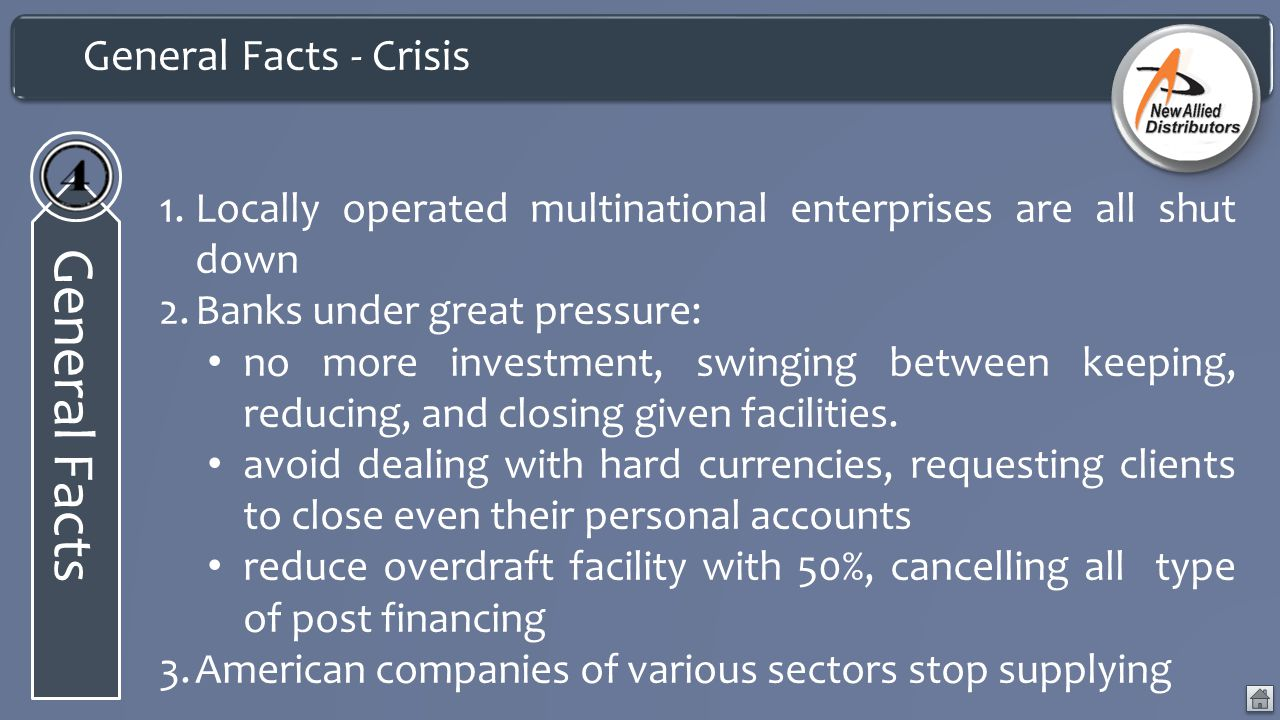General Facts General Facts - Crisis