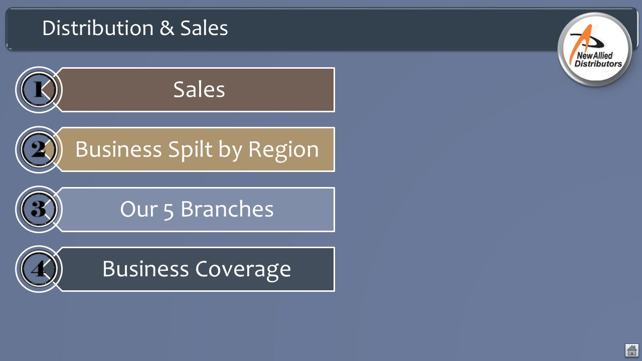 Business Spilt by Region