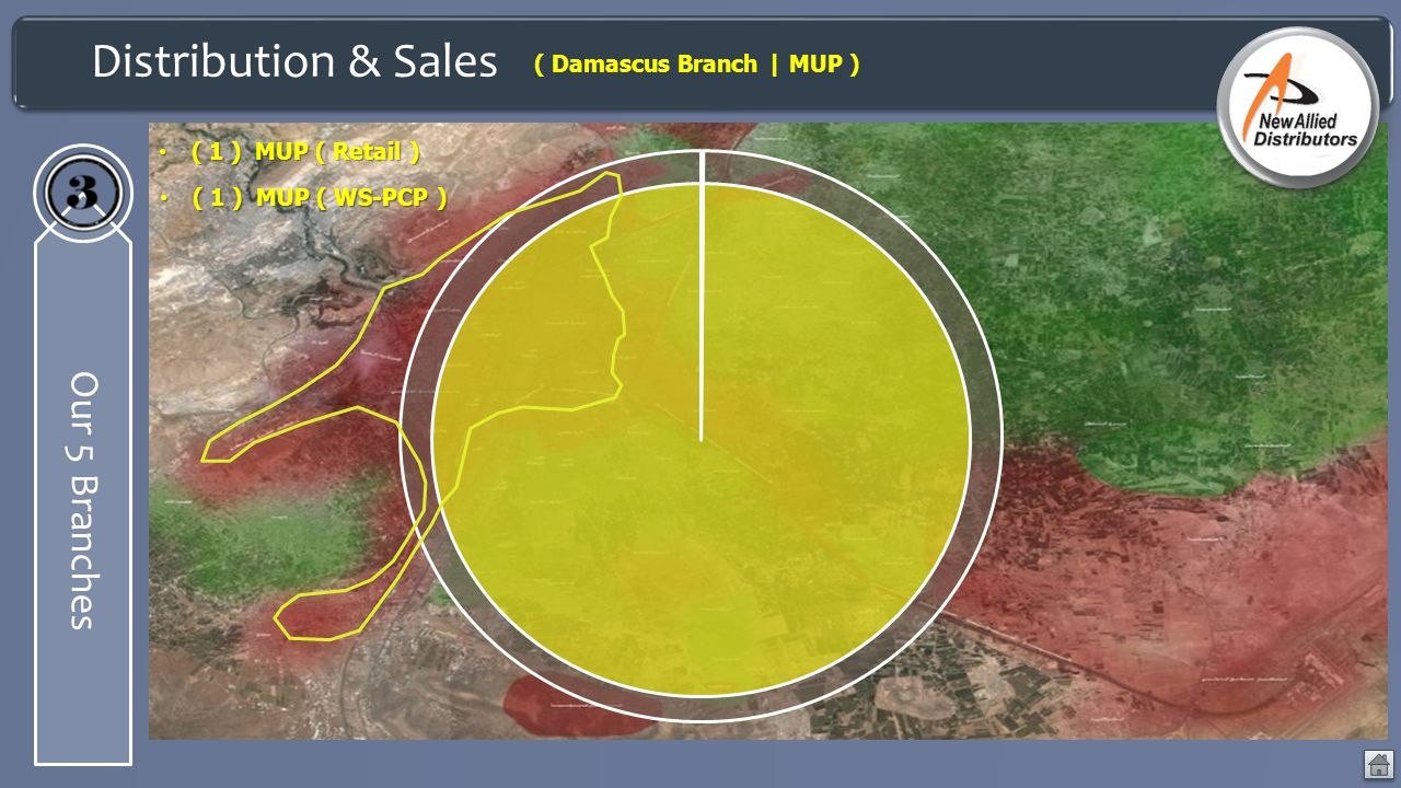Distribution & Sales Our 5 Branches ( Damascus Branch | MUP )