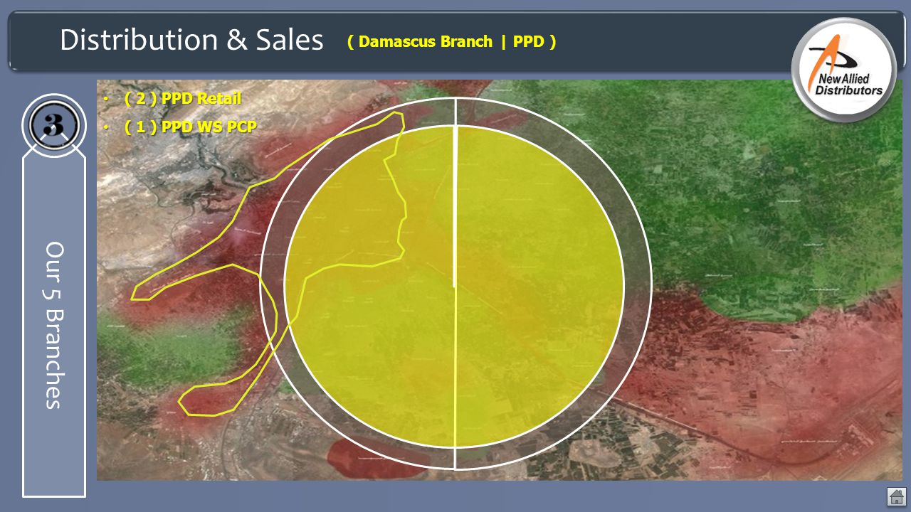 Distribution & Sales Our 5 Branches ( Damascus Branch | PPD )