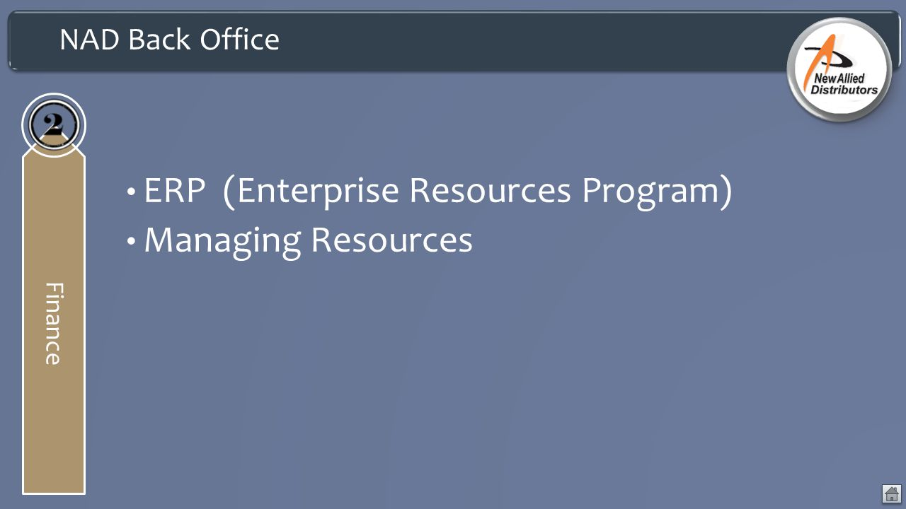 ERP (Enterprise Resources Program) Managing Resources