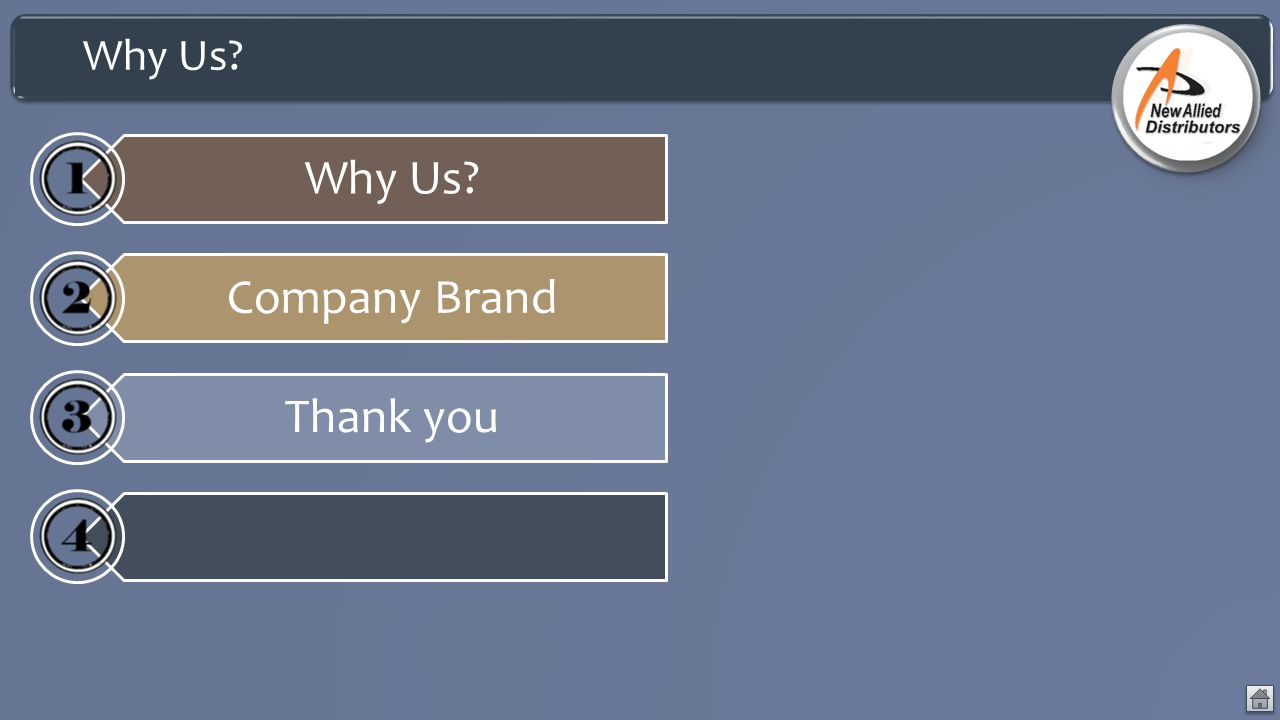 Why Us Why Us Company Brand Thank you