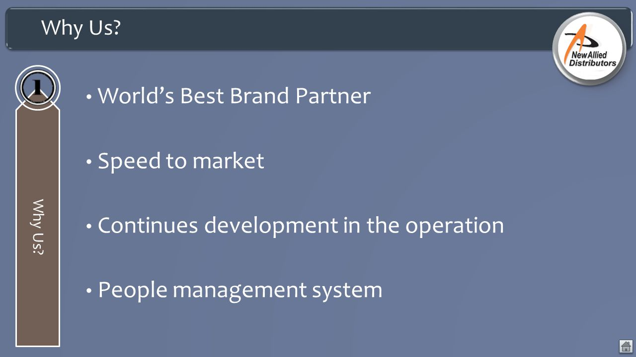 World's Best Brand Partner Speed to market