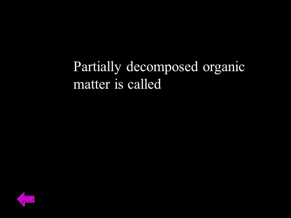 Partially decomposed organic