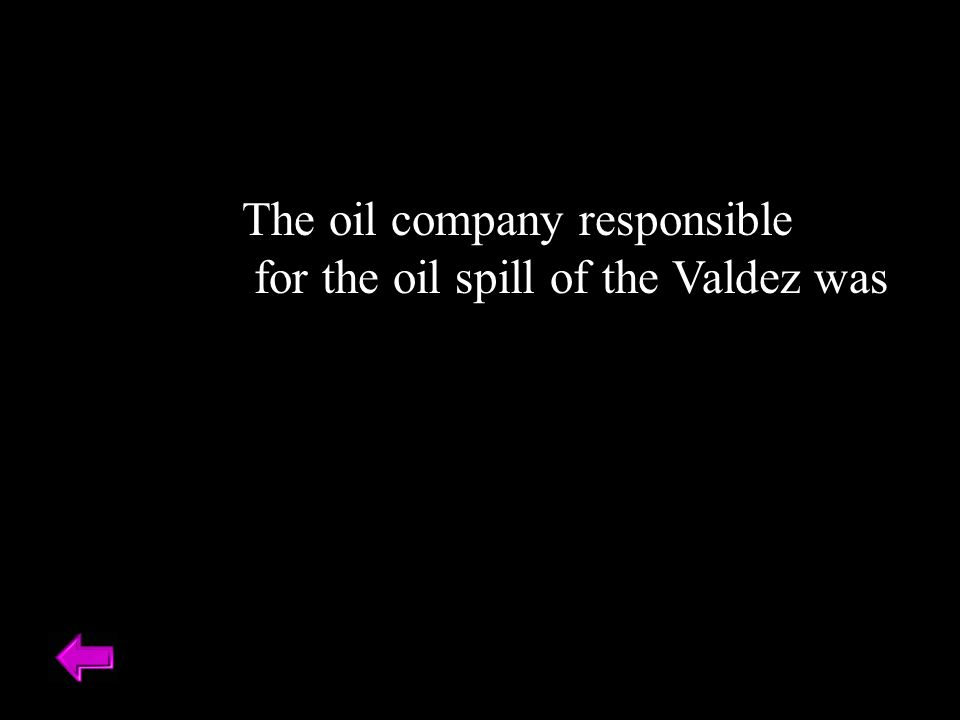 The oil company responsible