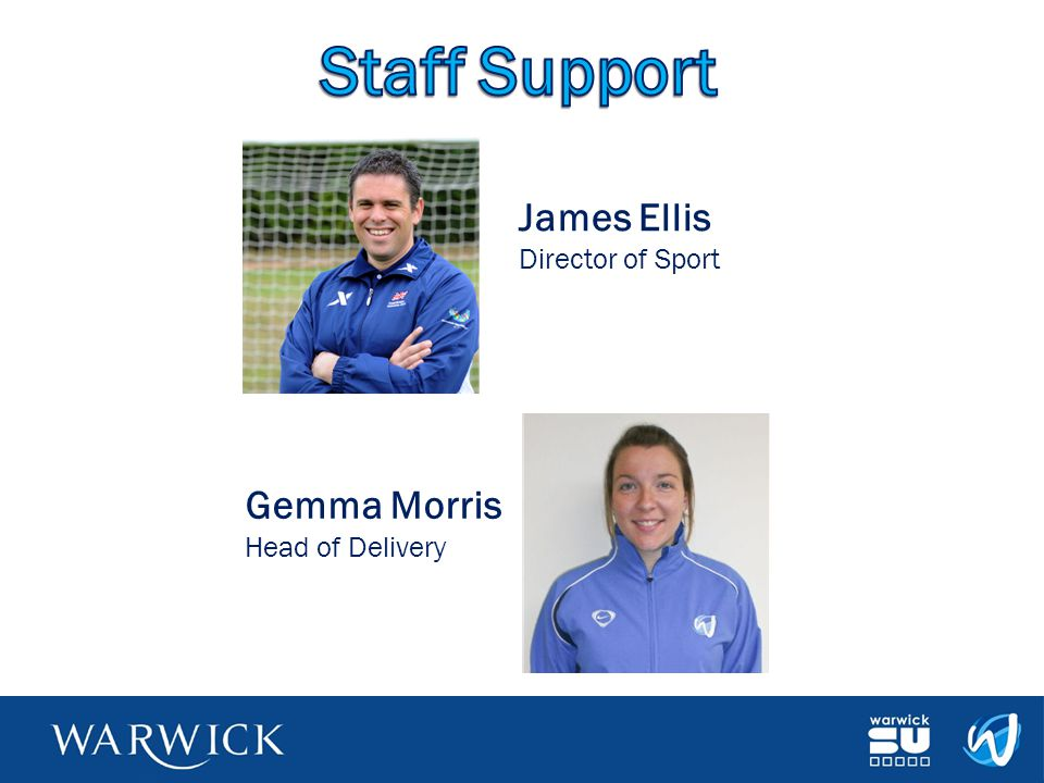 Staff Support James Ellis Director of Sport