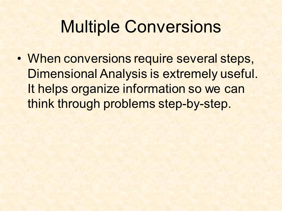 Multiple Conversions