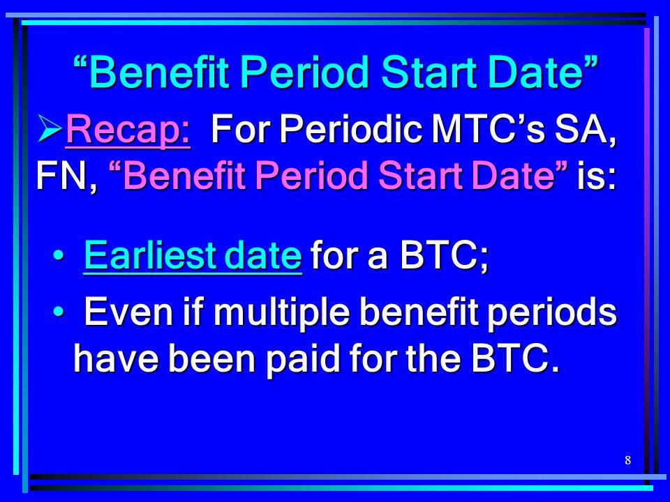 Benefit Period Start Date