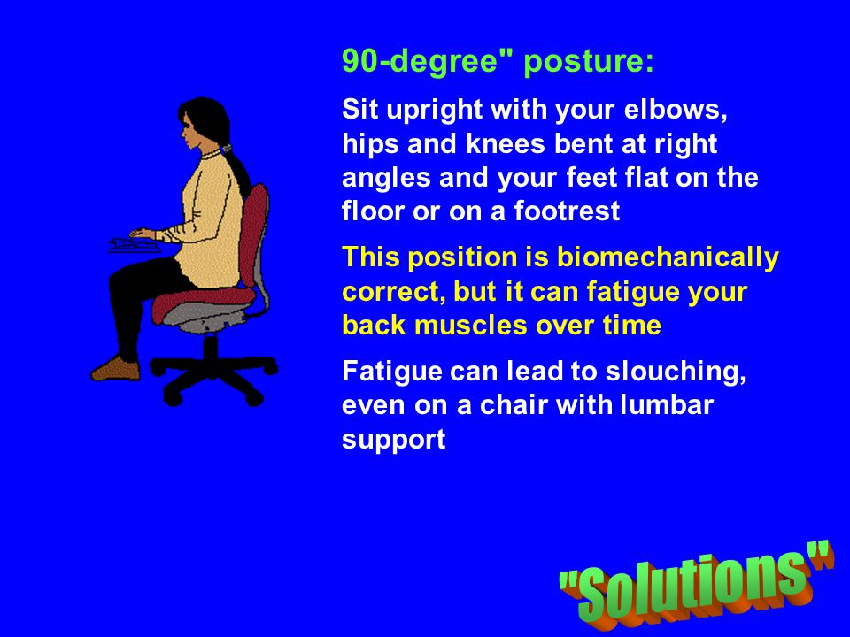 Solutions 90-degree posture: