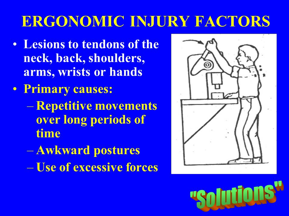ERGONOMIC INJURY FACTORS