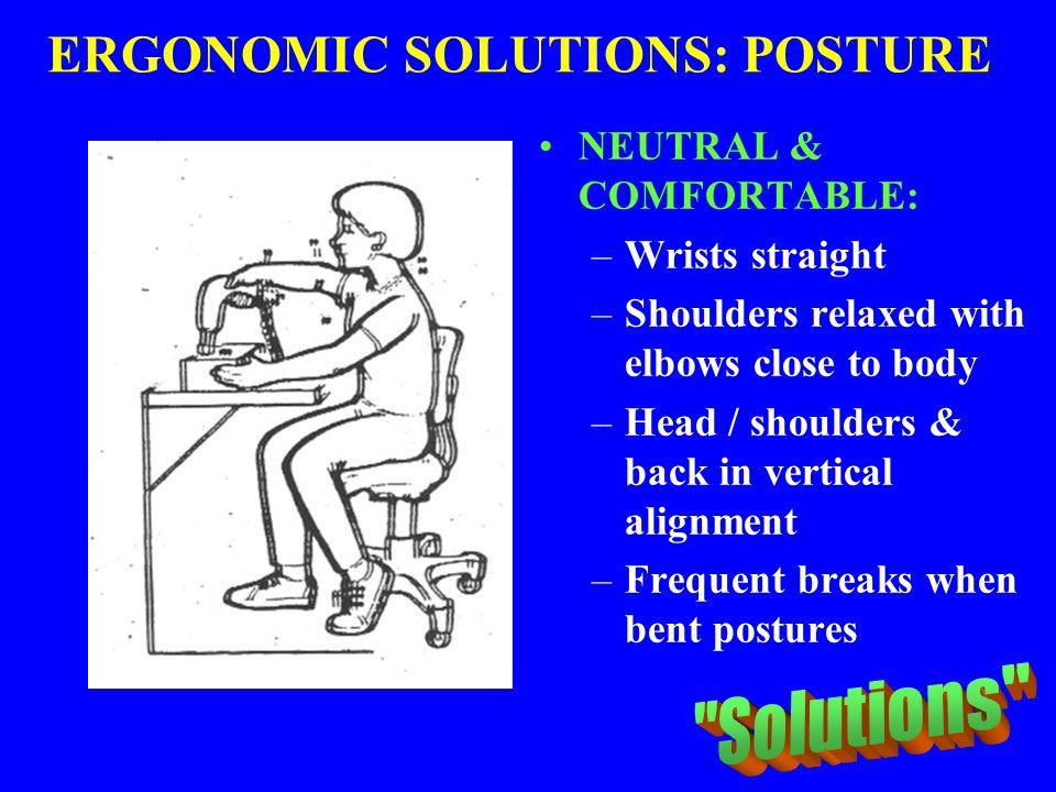ERGONOMIC SOLUTIONS: POSTURE