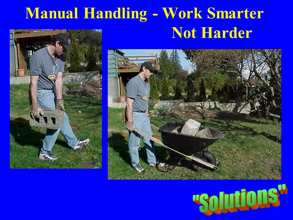 Manual Handling - Work Smarter Not Harder