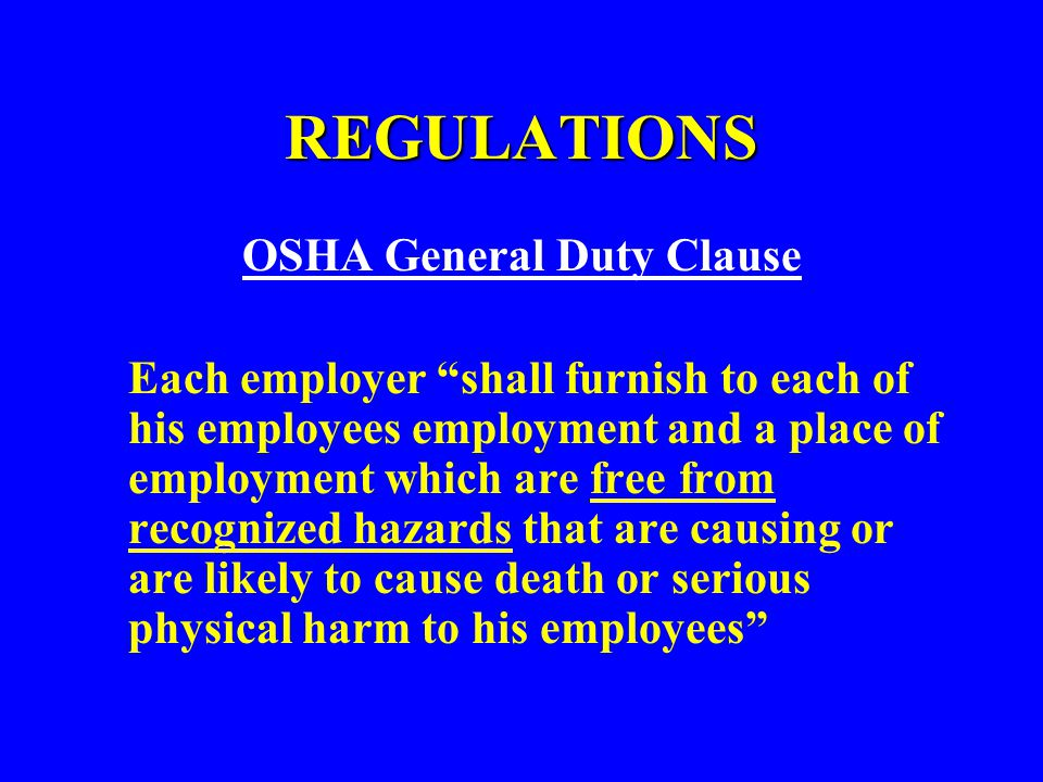 OSHA General Duty Clause