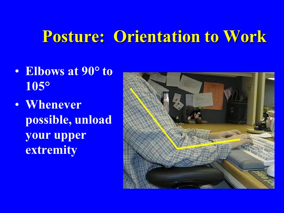 Posture: Orientation to Work