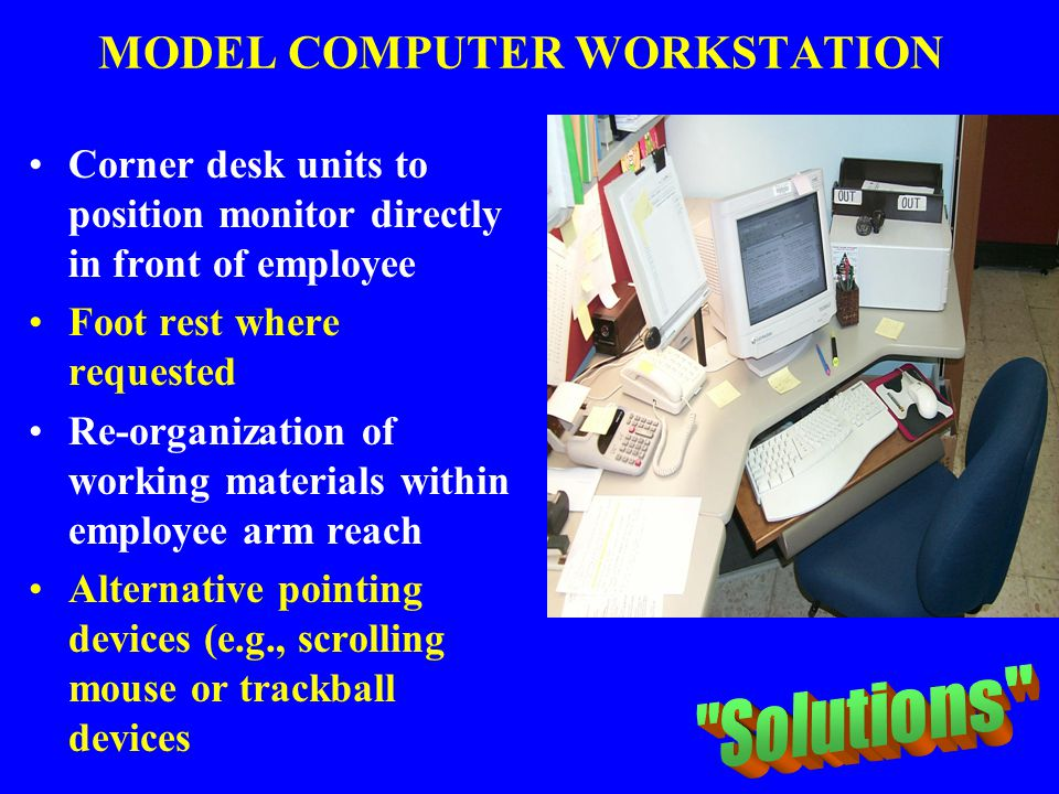 MODEL COMPUTER WORKSTATION