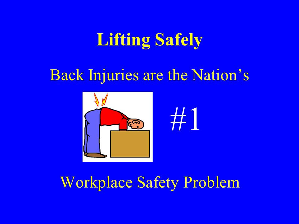 #1 Lifting Safely Back Injuries are the Nation's