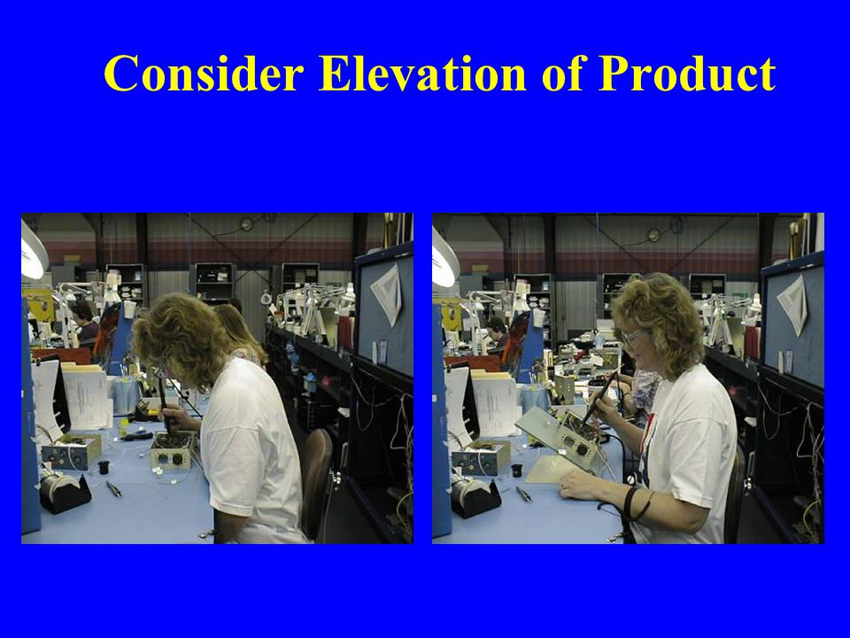 Consider Elevation of Product