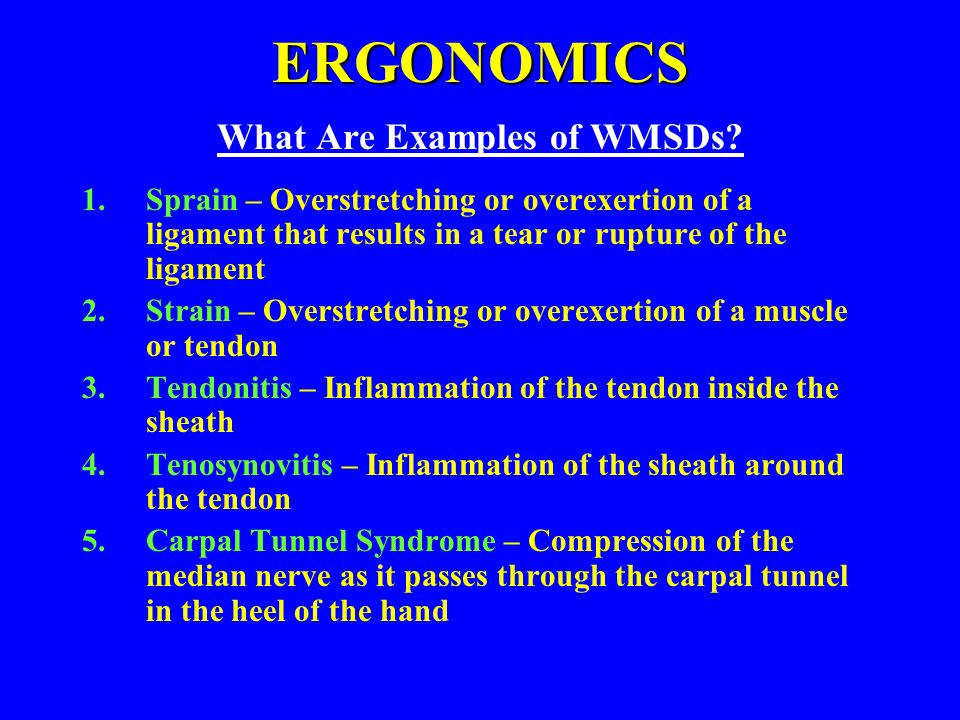 What Are Examples of WMSDs
