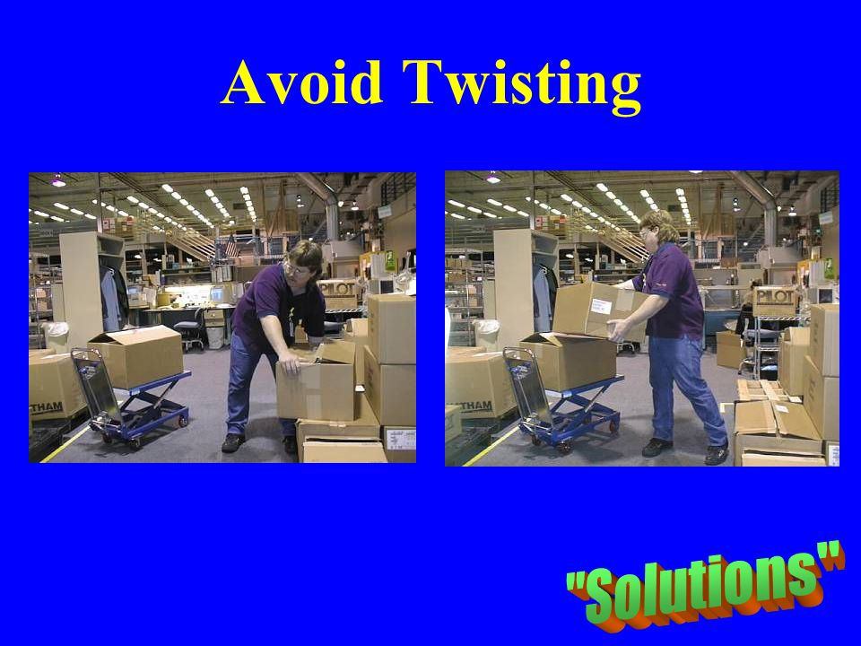 Avoid Twisting Solutions