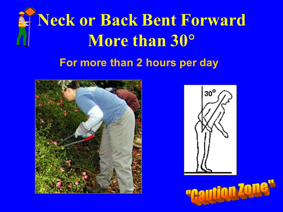 Neck or Back Bent Forward More than 30