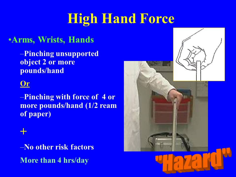 High Hand Force + Hazard Arms, Wrists, Hands