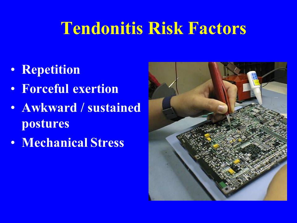 Tendonitis Risk Factors