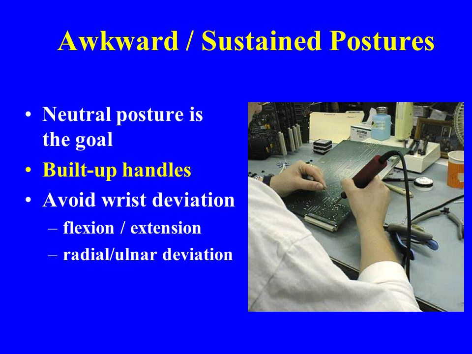 Awkward / Sustained Postures