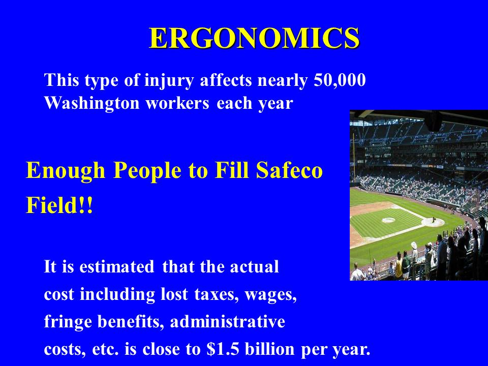 ERGONOMICS Enough People to Fill Safeco Field!!