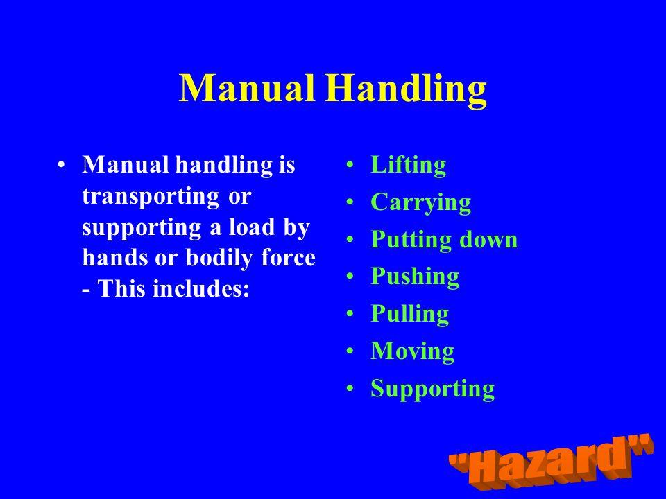 Manual Handling Hazard