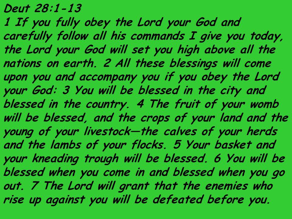 Deut 28:1-13