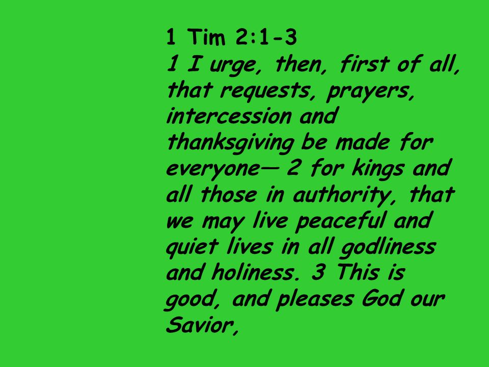 1 Tim 2:1-3