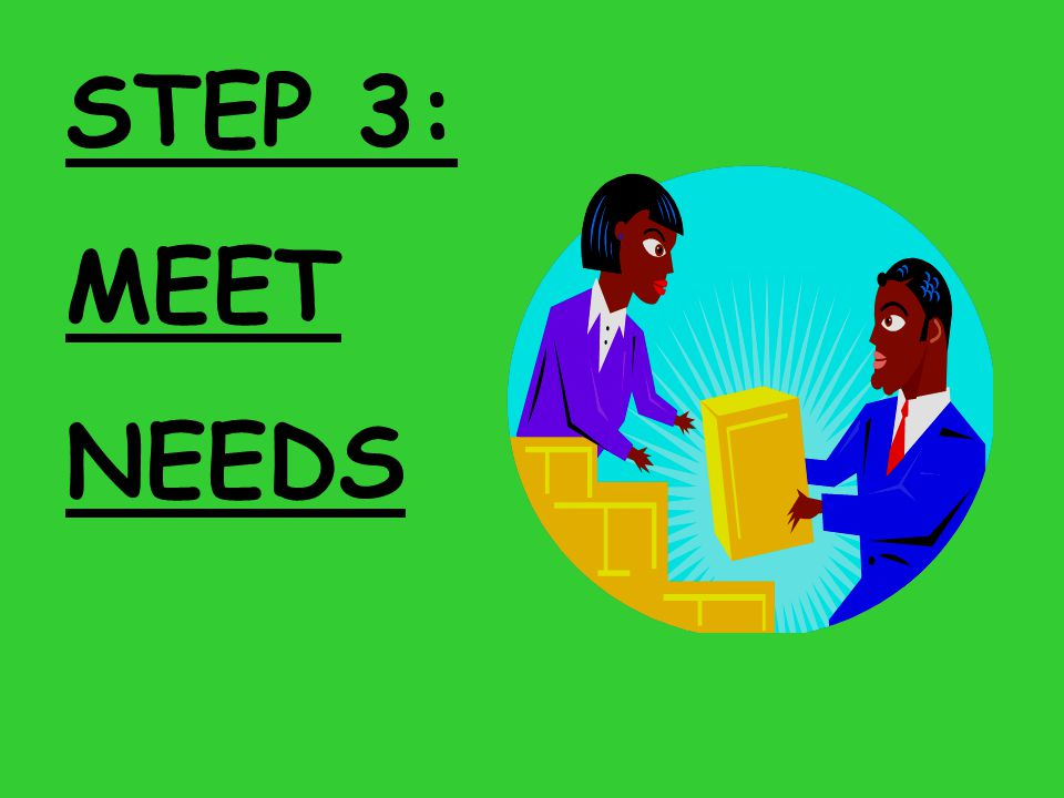 STEP 3: MEET NEEDS
