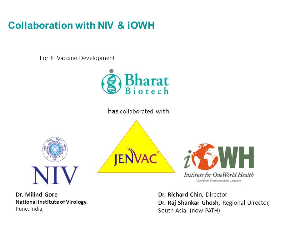 Collaboration with NIV & iOWH