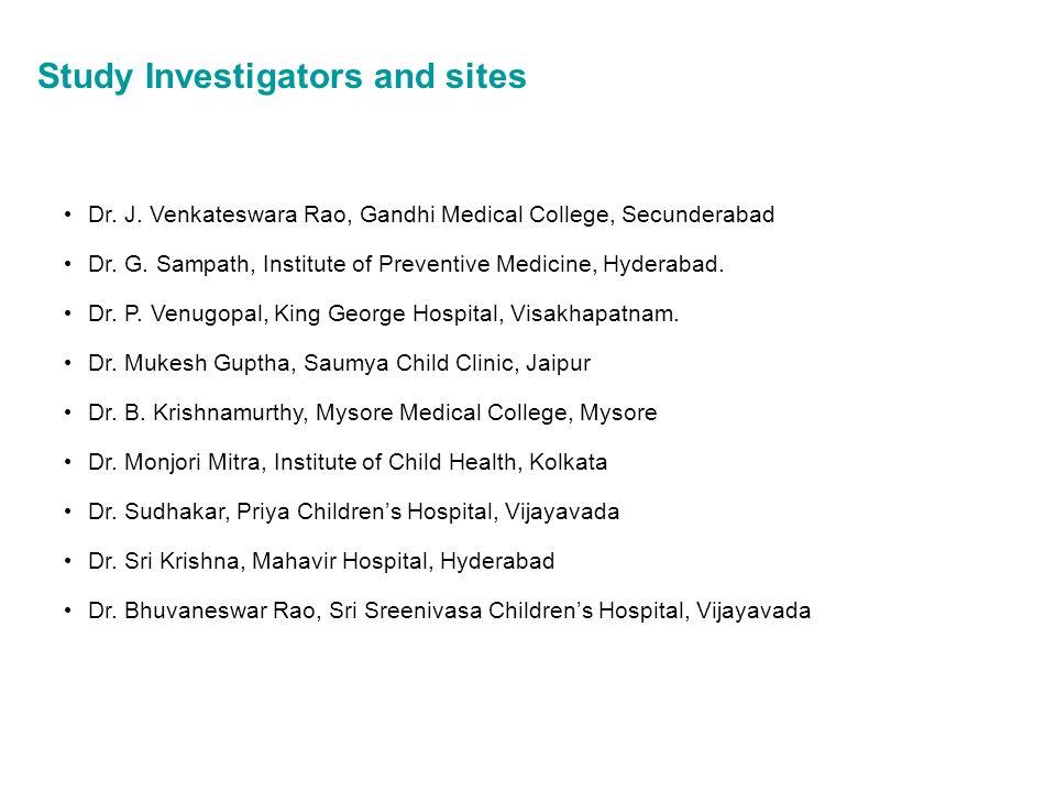 Study Investigators and sites