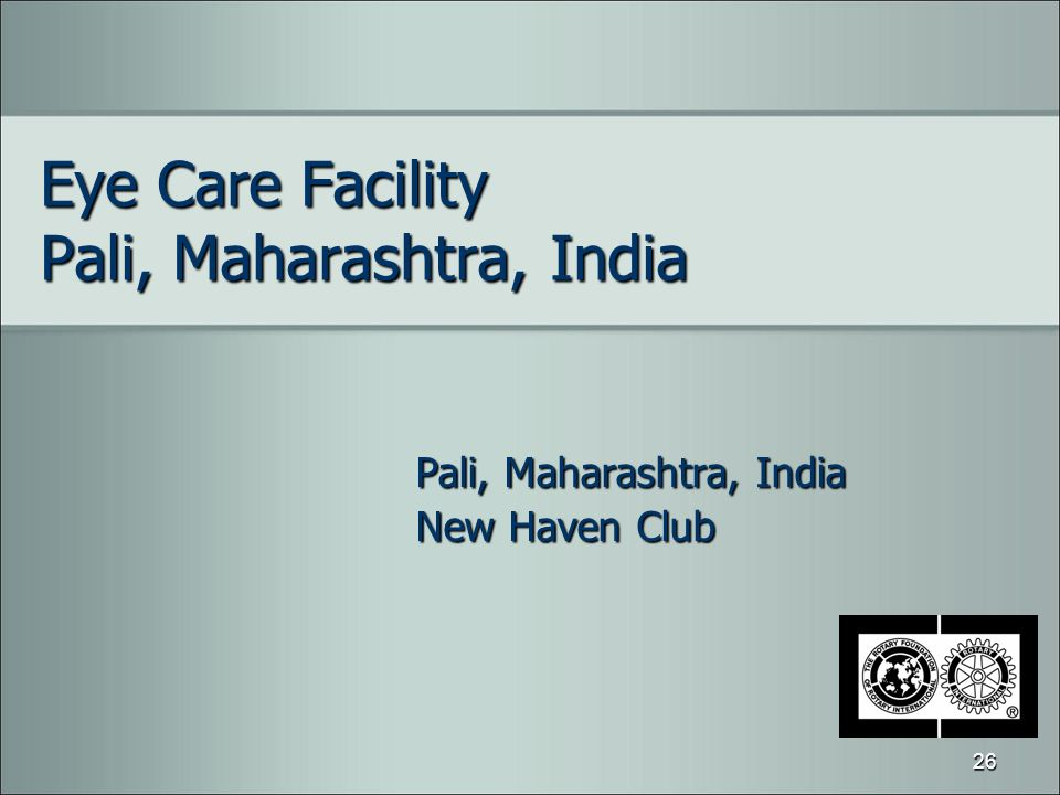 Eye Care Facility Pali, Maharashtra, India