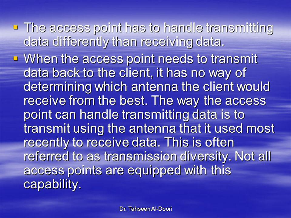 The access point has to handle transmitting data differently than receiving data.