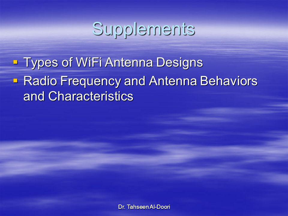 Supplements Types of WiFi Antenna Designs