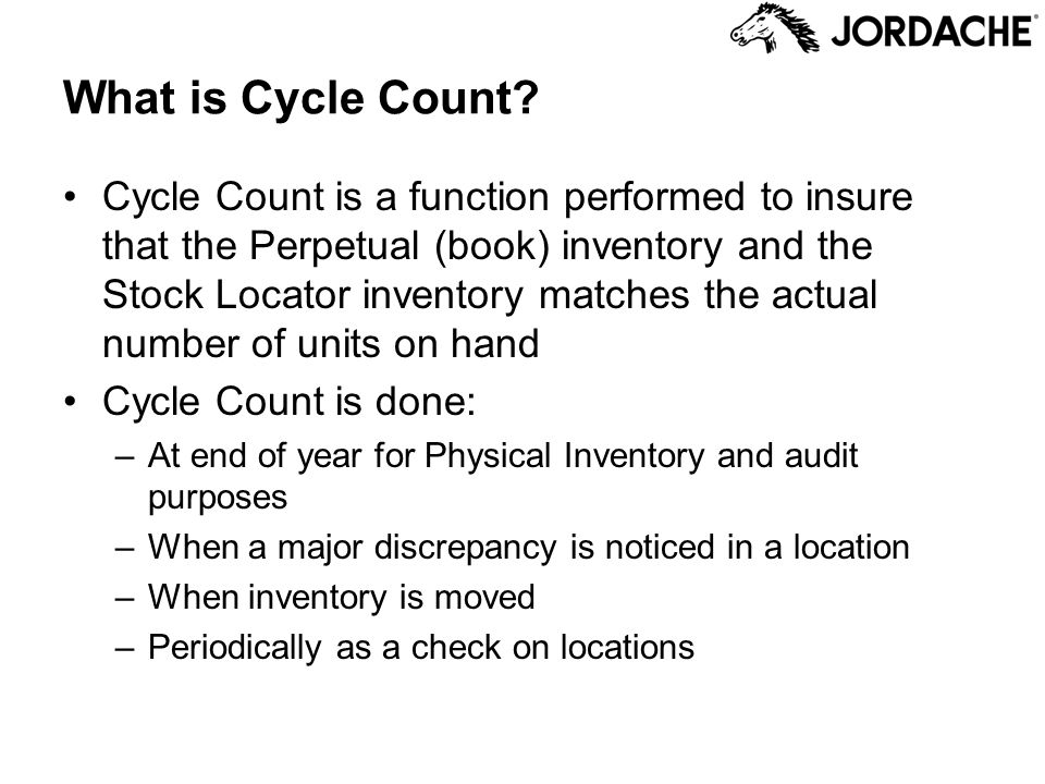 What is Cycle Count