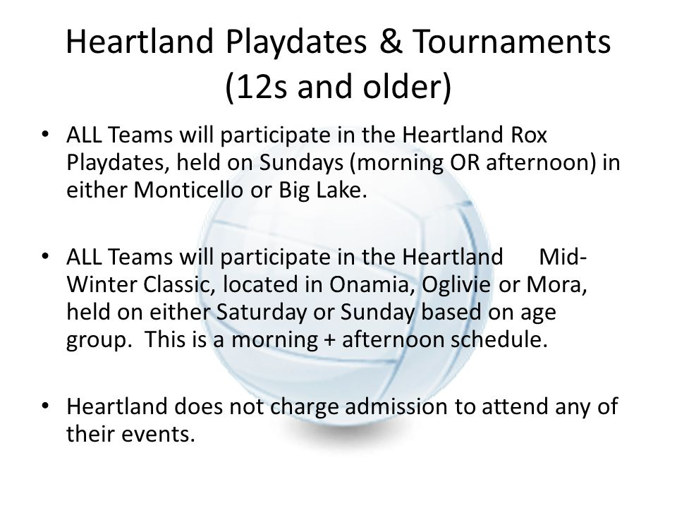 Heartland Playdates & Tournaments (12s and older)