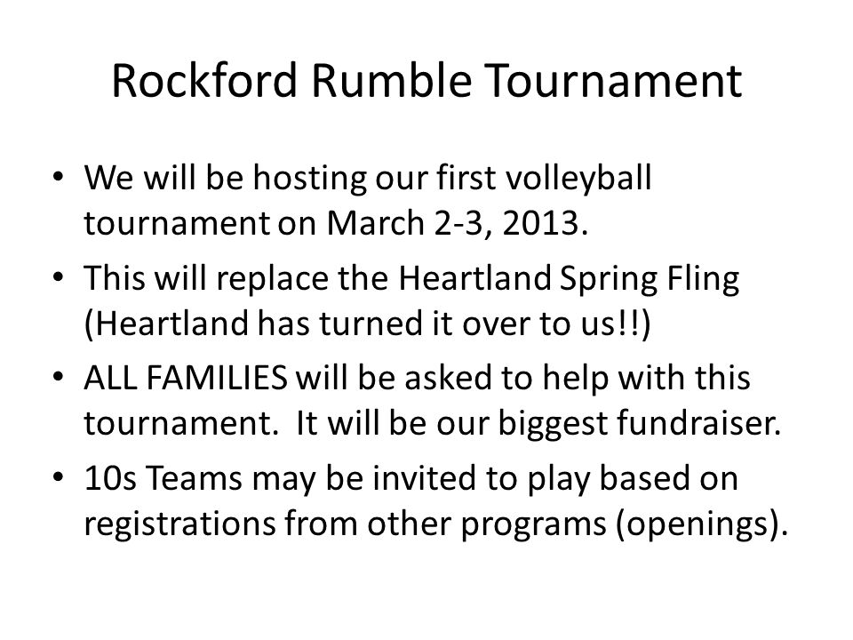 Rockford Rumble Tournament
