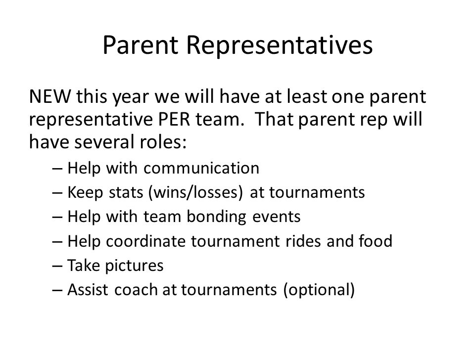 Parent Representatives