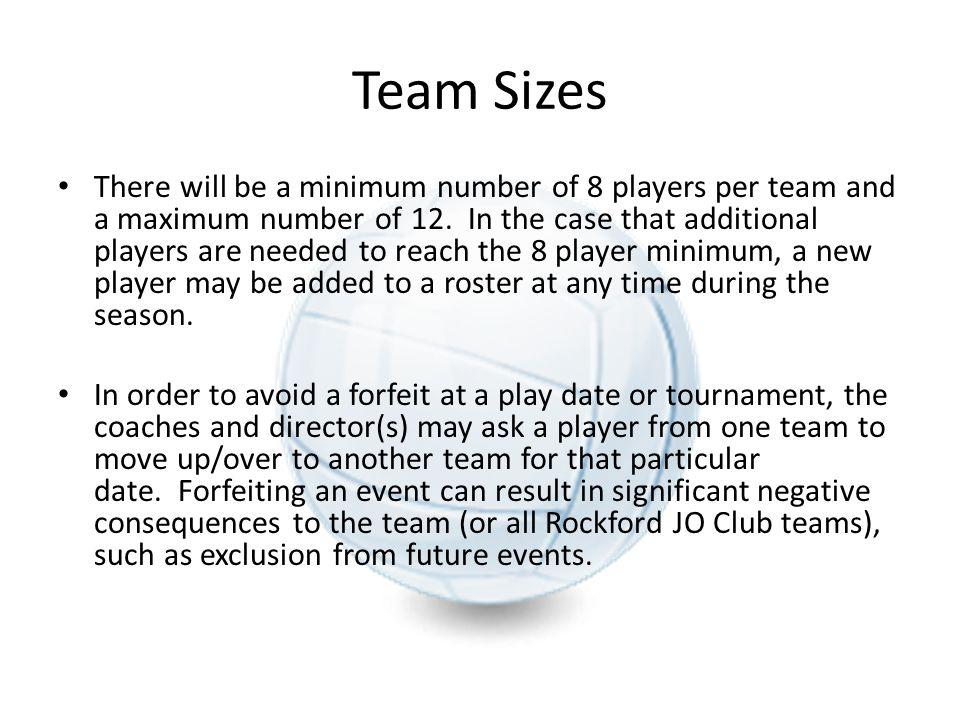 Team Sizes