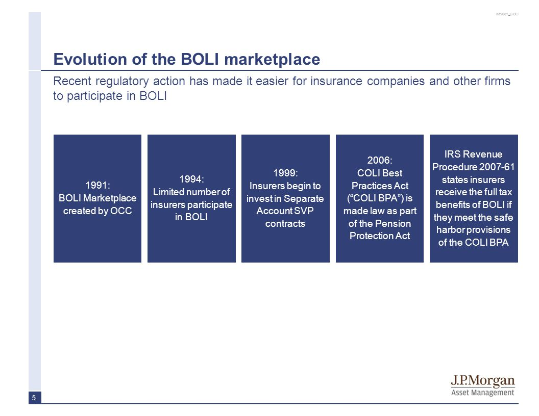 BOLI has favorable GAAP and Statutory Accounting treatment